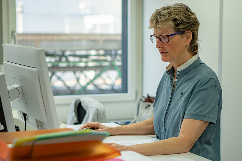 Franziska Feller at work